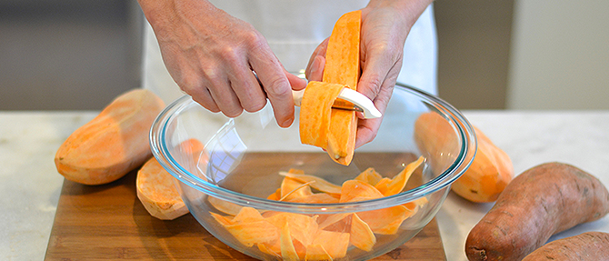 "How to Make Sweet Potato ""Pappardelle"""
