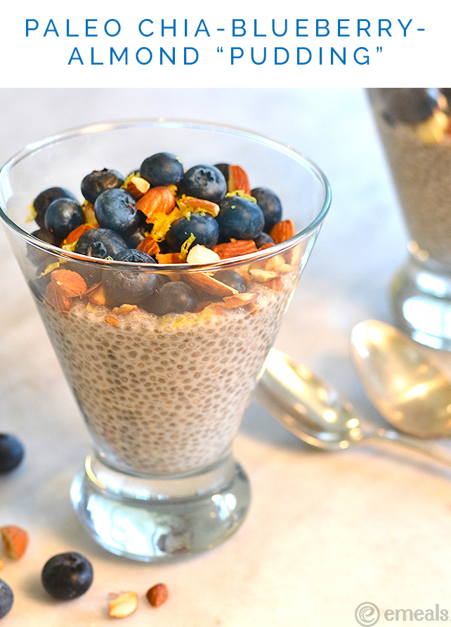 Paleo Chia-Blueberry-Almond Pudding | eMeals