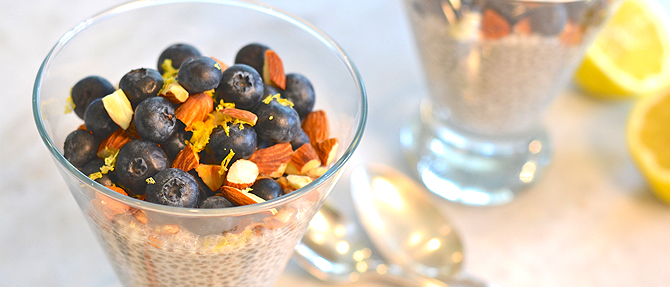 "Paleo Chia-Blueberry-Almond ""Pudding"""