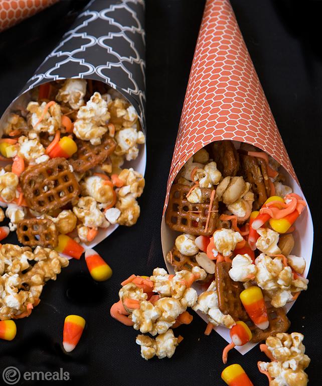 Caramel Popcorn and Pretzels