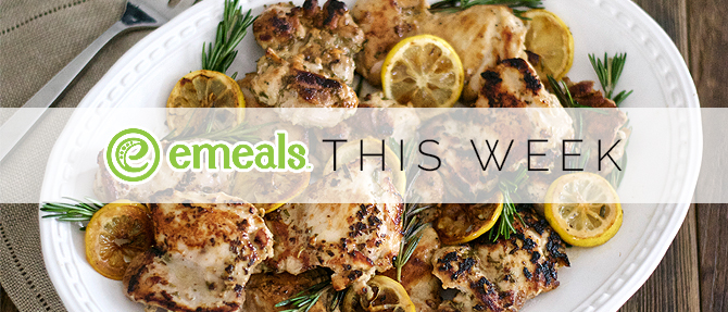 On the Menu This Week: Lemon-Rosemary Chicken Thighs