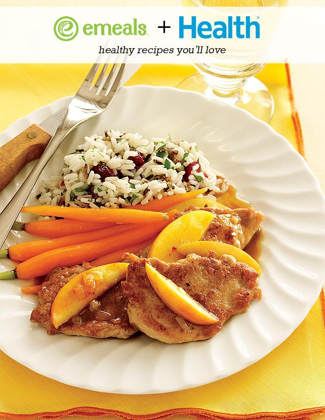 Pork Tenderloin with Sautéed Apples | eMeals + Health Magazine