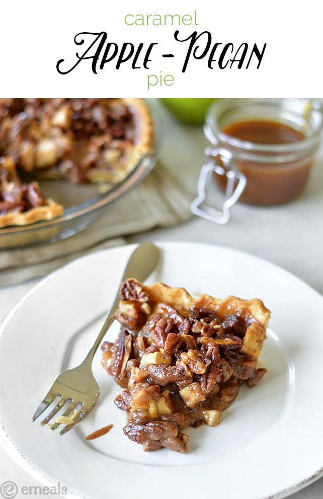 Caramel Apple-Pecan Pie | The eMeals Blog