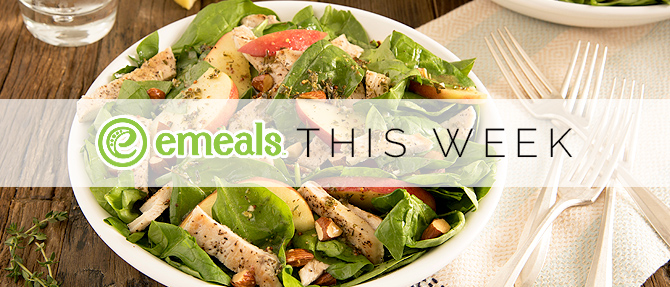 On the Menu This Week: Turkey and Spinach Salad with Lemon-Thyme Vinaigrette