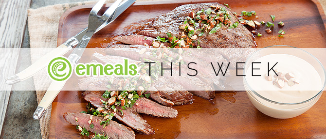 On  the Menu This Week: Flank Steak with Creamy Cauliflower Sauce