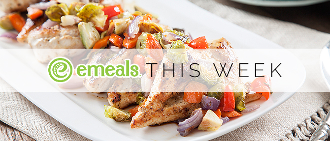 On the Menu This Week: Pan-Seared Chicken with Roasted Vegetables