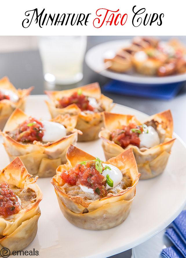 Miniature Taco Cups | eMeals