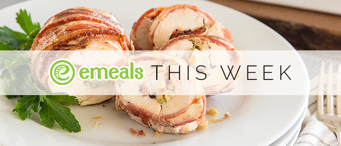 On the Menu This Week: Bacon-Wrapped Stuffed Chicken