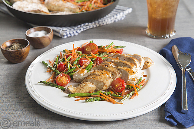 Skillet Chicken and Vegetables | eMeals