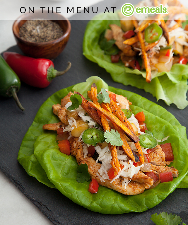 Southwestern Chicken Lettuce Wraps | eMeals