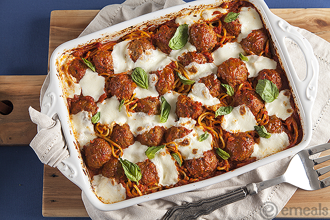 Baked Spaghetti and Meatballs | eMeals