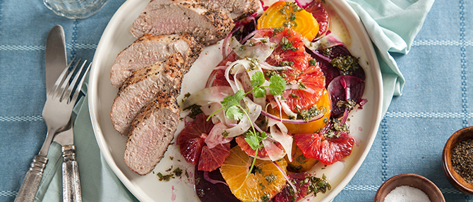 On the Menu: Pork Tenderloin with Roasted Beet Salad