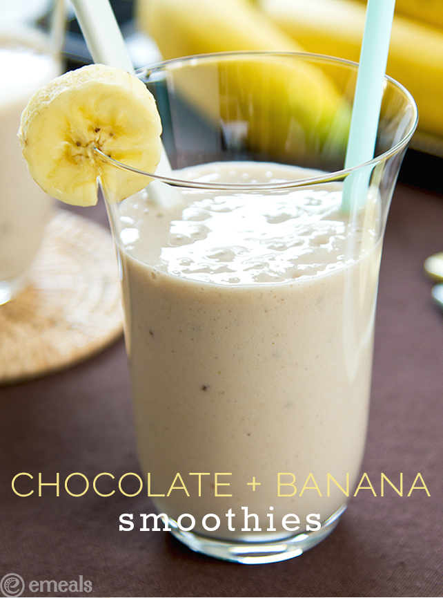 Chocolate-Banana Smoothies | eMeals