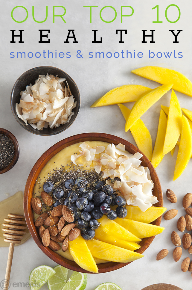 Our Top 10 Healthy Smoothies and Smoothie Bowls | eMeals