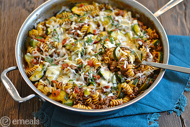 Gluten-Free Beefy Pasta Skillet Dinner | eMeals