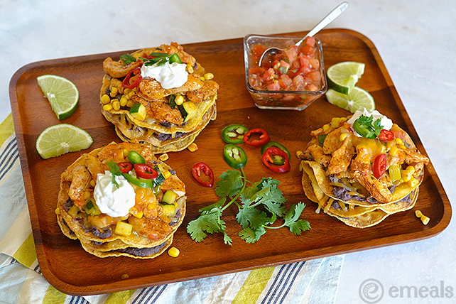 Gluten-Free Crunchy Chicken Tostada Stacks | eMeals